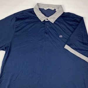 Travis Mathew Men's Polo Size XXL Blue Grey